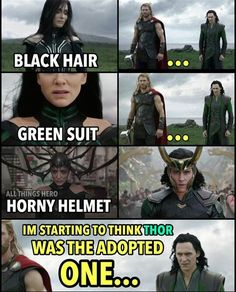 When costume designers forgot the plot change from Hela and Fenris being Loki's kids