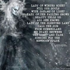 Lady of t he winter night. Winter Equinox, Solstice And Equinox, Winter Solstice, Wiccan Witch, Magick, Witchcraft, Female Reindeer, Male Witch, Male Figure