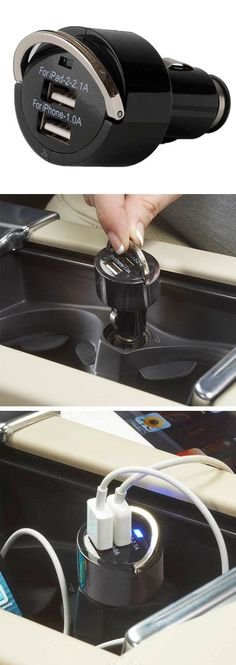 Cool Exotic cars 2017: Dual-USB Car Charger for iPad & iPhone // Simply plugs in, and adapts to you...  Samantha Check more at http://autoboard.pro/2017/2017/08/16/exotic-cars-2017-dual-usb-car-charger-for-ipad-iphone-simply-plugs-in-and-adapts-to-you-samantha/