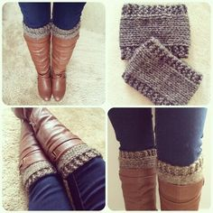 Free Knitting Patterns For Boot Toppers Free Boot Cuff Patterns For Crochet Fiberartsy. Free Knitting Patterns For Boot Toppers 8 Cozy Knitted Boot Cu. Guêtres Au Crochet, Crochet Double, Crochet Boots, Knit Boots, Free Crochet, Beginner Crochet, Loom Knitting, Knitting Socks, Knitting Patterns Free