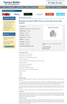 Business for sale Branded Licensed Coffee Shop in prime high street retail location Ref. AC349 Location Aberystwyth, Cardigan Bay, Wales Asking Price £120,000 RupertCattell TurnerButler we sell business Rupert Cattell Businesses for sale Turner Butler Testimonial Successful Business Broker Selling your business wesellbusiness