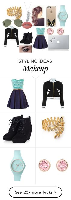 """""""Beauty isn't skin deep!"""" by fangirl-20037 on Polyvore featuring Lime Crime, Stone Paris, Casetify, Swarovski, Gorjana, Ray-Ban, Moschino and Ice-Watch"""