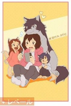 Wolf Children / Ookami Kodomo No Ame To Yuki-Anime Ame und Yuki die Wolfskinder Totoro, Manga Art, Manga Anime, Anime Art, Anime Furry, Anime Wolf, Wolf Children Ame, Film Animation Japonais, Lobo Anime