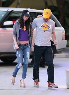 Megan Fox in Frankie B.  Jeans # women's fashion # denim pant # destroyed washed # medium wash # Skinny fit #