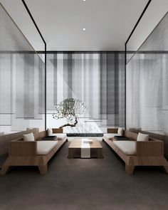 light and layers screens and shades Chinese Interior, Japanese Interior, Cafe Interior, Interior Design, Zen Style, Curtains With Blinds, Modern Asian, Office Interiors, Interior Architecture
