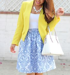 Blue and Yellow_-10 by Stylish Petite, via Flickr