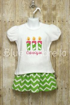 Custom Birthday Outfit First Second Third by BlueUmbrellaDesigns