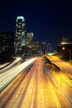 Downtown Los Angeles at Midnight! by Nhut Pham on 500px  . Long-Exposure Photography