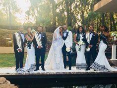 nigerianische hochzeit Like the bridesmaid dress Like the bridesmaid dress African Bridesmaid Dresses, Modern Bridesmaid Dresses, African Wedding Attire, African Weddings, Glamping, South African Traditional Dresses, Traditional Wedding Attire, Wedding Gowns, Tent Wedding