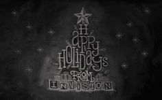 Happy Holdays Chalkboard by Invision Creative Studio , via Behance