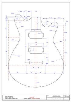 Drawing Autocad exam level i Mechanical Engineering Design, Mechanical Design, Guitar Drawing, Cad Drawing, Cad 2d, Isometric Drawing Exercises, Guitar Diy, Interior Design Sketches, Geometry Art