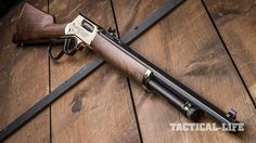 Henry 45-70 lever action rifle right angle