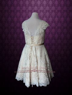Retro Vintage Style Wedding Dress   Ieie's Bridal Wedding Dress Boutique