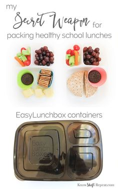 Secret Weapon for packing healthy school lunches  - Know. Shift. Repeat. #easylunchboxes