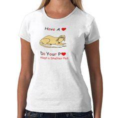 Veterinarian assistant shirt urges pet adoption.  $22.20  #rescue #pets #dogs