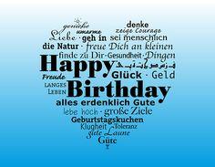 Geburtstag, Glückwunsch