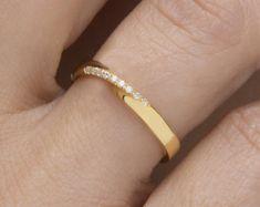 Mobius ring diamant mobius ring trouwring Pave door elegantjewelbox