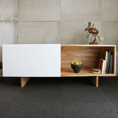 Buy LAX Entertainment Shelf from MASH Studios. LAXseries' Entertainment Shelf was designed to house all your media equipment neatly behind a beautiful,. Entertainment Shelves, Entertainment Center, Modern Furniture, Home Furniture, Furniture Design, Espace Design, Sweet Home, Modern Shelving, Buffets
