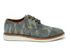Camo Canvas Men's Brogues | One of Blake's favorite styles!