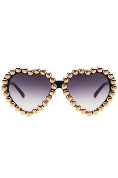Diamante Heart-shaped Frame Black Sunglasses #sunglasses #heart