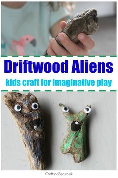 Make the most of your treasures from the beach with this fun driftwood craft for kids that's great for encouraging imaginative play.