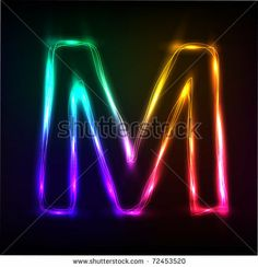 Vector Alphabet Neon Letter M Stock Vector (Royalty Free) 72453520 M Wallpaper, Computer Wallpaper, Melissa Name, Spiritual Leadership, Letter M Logo, Alphabet, Royalty Free Stock Photos, Neon Signs, Graphic Design