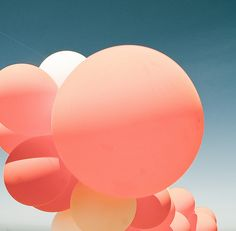 Balloons by Harpy Bubble Balloons, Big Balloons, Bubbles, Pastel Balloons, Round Balloons, Love Balloon, Just Peachy, Family Posing, Coral Color