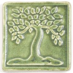 Pewabic's Botanical series of tiles (including Flower, Tree and Gingko) was originally designed by ceramic artist and Cranbrook graduate Lee Morrell. #Pewabic #Detroitmade #Michiganmade #glazing