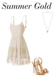 """""""Summer Gold"""" by missweasley-899 ❤ liked on Polyvore featuring LE3NO, Giuseppe Zanotti, Michael Kors, women's clothing, women, female, woman, misses and juniors"""