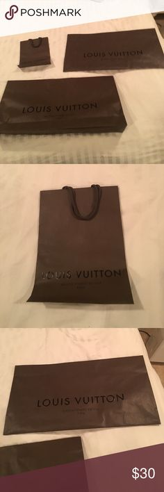 3 Louis Vuitton shopping bags 3 extra large shopping bags and 1 small Louis Vuitton Other
