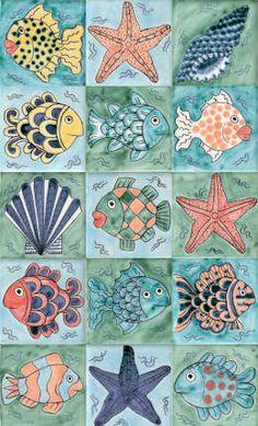 Pareti & Pavimenti in stile in stile Tropicale di Reptile tiles & ceramics