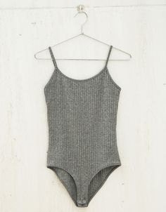 BSK strappy ribbed bodysuit. Discover this and many more items in Bershka with new products every week