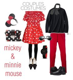 """mickey & minnie mouse"" by freshdee on Polyvore featuring Max Studio, Caroline Constas, Jimmy Choo, Dsquared2, Uniqlo, Rockport and RED Valentino"