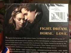 "my friend has a copy of les mis from china.  ""horse"" indeed."