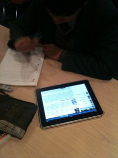 iPads used for research via our Learning Centre Blog