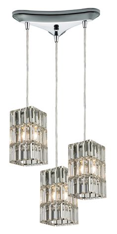 10 in. 3-Light Chandelier in Polished Chrome Finish - http://chandelierspot.com/10-in-3light-chandelier-in-polished-chrome-finish-538932308/