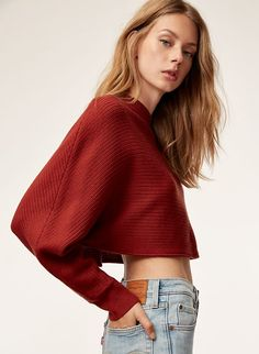 Shop women's clothing from Wilfred Free, one of Aritzia's exclusive brands. Wilfred Free takes inspiration from vintage silhouettes to create a casual uniform. Fashion Models, Girl Fashion, Fashion Outfits, Fc B, Fashion Photography Poses, Pinterest Fashion, Vogue, Girls Sweaters, Fashion Sketches