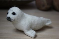 Handmade Needle Felted Baby Seal cute gift от AliceFelts на Etsy