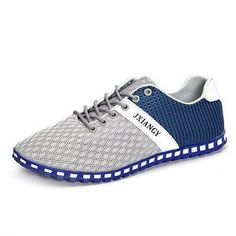 Fashion Men Stretch Mesh Fabric Elastic Panels Metal Decoration Sport Running Sneakers - NewChic Mobile.
