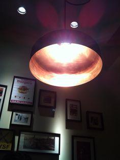 Koperen lamp. Mooi licht!