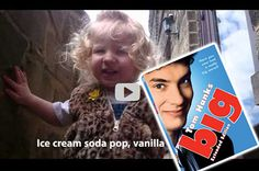 2 Year Old Amelia Sings The Ice Cream Song From The Tom Hanks Movie BIG