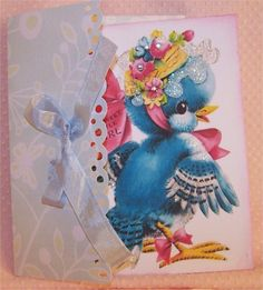 Happy Birthday card for a sweet little girl. Handmade envelope to match.  $5.95