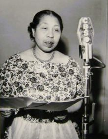 """Amanda Randolph (September 21, 1896 - August 23, 1967) was a singer, pianist, restauranteur, and actress. She was the first African American to star in a regular televsion show (""""Amanda"""", on Dumont in 1948) and portrayed Louise on the Danny Thomas Show/. She also appeared on Broadway in """"Shuffle Along"""", in several Oscar Michaux films, and as Sapphire's mother Ramona on the Amos 'n' Andy radio show. #TodayInBlackHistory"""