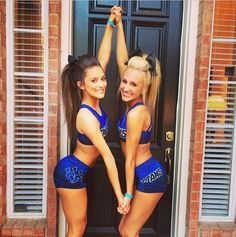CHEER Athletics Cheetahs competitive cheerleaders in uniform posing cute friends…