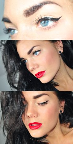 Red lips + liner