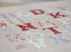 A Cross-Stitched Alphabet by petits détails, via Flickr