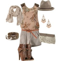 Shell & Brown, lace up boots - Outfit of the week