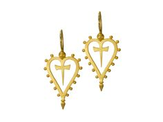 'Insignia of the Ages' Earrings in 18ct matte Gold | LOVE & HATRED