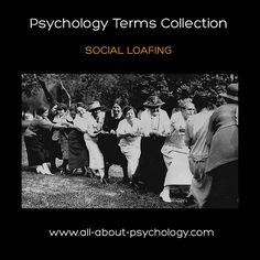 The #Psychology Terms Collection. Click on image or see following link to learn all about social loafing - the psychological phenomena whereby the presence of others results in a reduction of individual effort.   www.all-about-psychology.com/social-loafing.html  (Photo Credit: Toronto History via flickr creative commons)