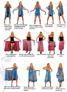 Multi way dress - Dark Gray Bridesmaids Dress - Convertible Wrap Infinity Multi - way dress more than 18 ways to wear, Dark Green Prom Dresses, Peach Prom Dresses, Prom Dresses Long Modest, Straps Prom Dresses, Kimono Fashion, Diy Fashion, Ideias Fashion, Sarong Dress, Scarf Dress